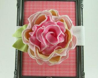 Raspberry Sundae Fabric Flower Headband PDF Tutorial
