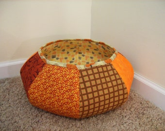 Fabric Floor Basket Pattern Tutorial ... NEW
