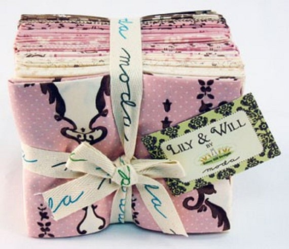 Lily and Will Fat Quarter Bundle PINK by Bunny Hill Designs for Moda Fabrics 20 pcs CLEARANCE SALE