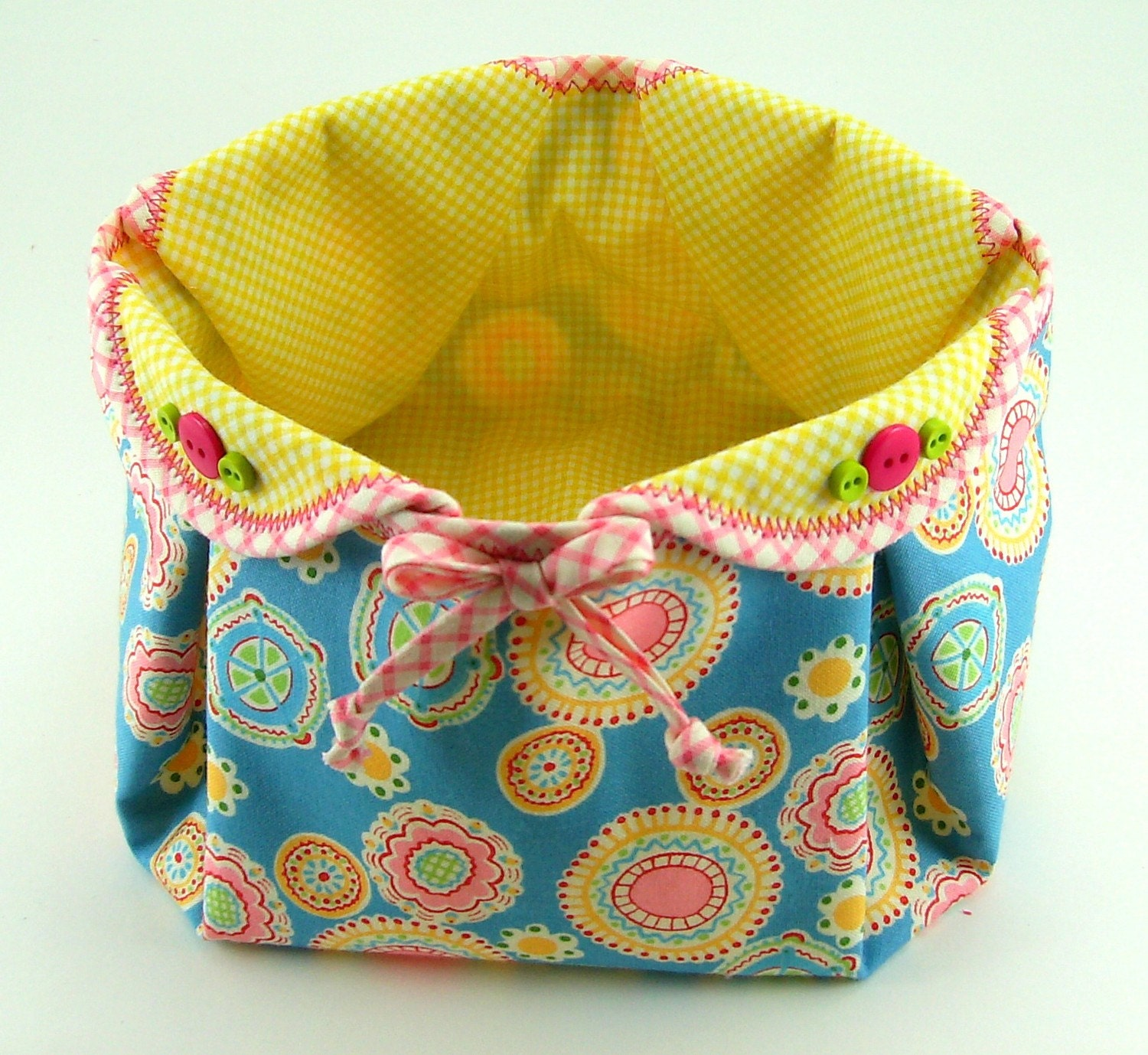 Fabric Basket PDF Sewing Pattern Tutorial ... by SundayGirlDesigns