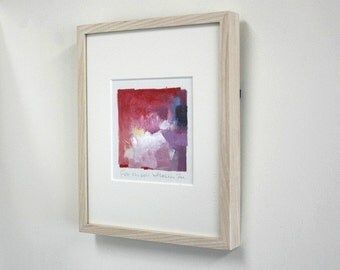 "Wood Frame for your 9x9 painting (9 cm x 9 cm - app. 4"" x 4"") - Frame size 20 cm x 25.4 cm (8"" x 10"") acrylic glass"