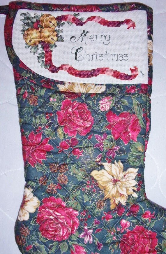 Cross Stitched Christmas Stockings