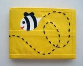 Bumble Bee Duct Tape Wallet - Yellow