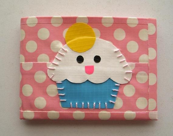 Items Similar To Cupcake Bifold Duct Tape Wallet Polka