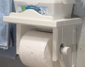 White Toilet Paper Holder with Shelf