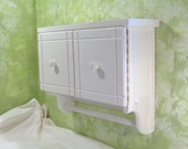 WT501 Bathroom Wall cabinet for shaving and cosmetic in white with doors