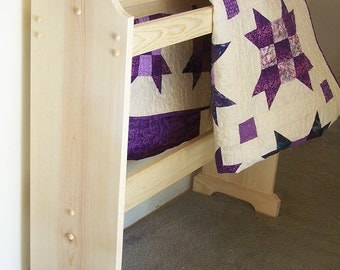 Unfinished free standing Quilt rack wood ready to assemble