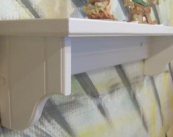 """Choose color 28"""" wooden shelf for knik knack, pictures original USA 5.5"""" deep"""