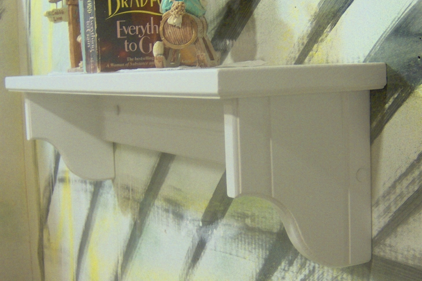 white 24 inch wall shelf 5 and 1 half inch deep. Black Bedroom Furniture Sets. Home Design Ideas