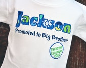 Personalized Kids Pregnancy Announcement Shirt / Big Brother to Be / SHORT Sleeve