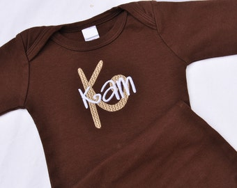 Monogrammed Baby Gown 0-3 Months