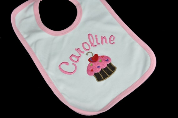 LARGE Personalized Baby Bib Any Name or Design