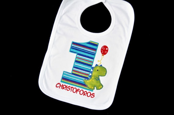 Personalized Baby's First Birthday Bib  / Match your Theme