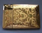 ELGIN AMERICAN vintage Cigarette Case Lighter  engraved Kathleen Katras