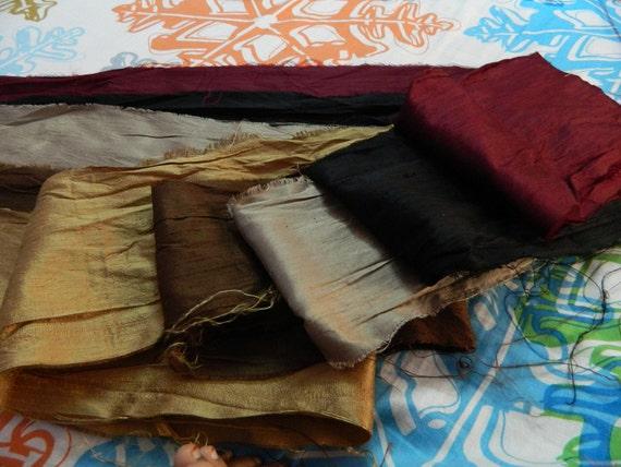 PURE SILK PIECES  Colorful & Elegant (Silk Scrap)