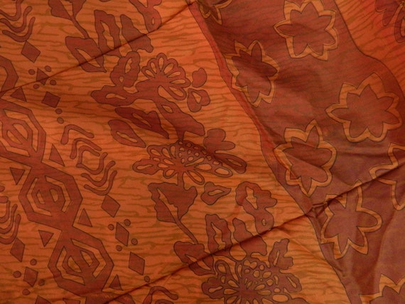 "Pure Silk Fabric - Printed Design 3.1 Yards  - 44"" Wide"