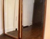 Pair of Vintage Oak Framed Mirrors