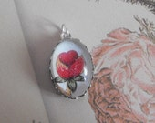 Vintage Inspired Rose Pendant