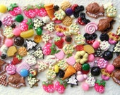 WHOLESALE Japanese 100 SWEETS Mix Cabochons Charms SET 8