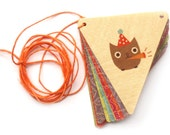 Birch Wood Owl Birthday Party Banner - nightowlpapergoods