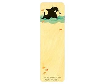 6 inch Birch Wood Ruler - Bookmark - Otto Orca WM124