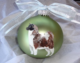 Akita Hand Painted Christmas Ornament - Can Be Personalized with Name