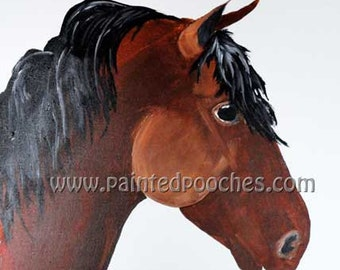 Morgan Horse Original Art Print by Painted Pooches