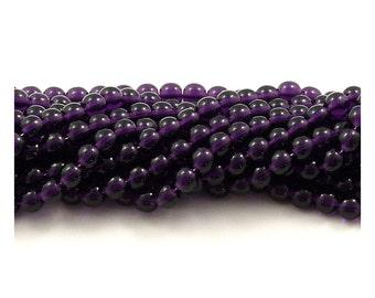 Czech Glass Purple Tanzanite Round Druk Beads 6mm - 50