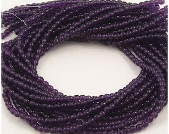 Purple Tanzanite Round Druk Czech Glass Beads 4mm - 100