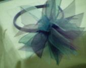 Girls Lavender and Blue Ribbon Headband