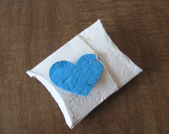 Seed Paper Wedding Favor Box - Plantable Seed Paper Pillow Box - Plantable Paper Favor