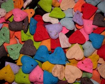 Seed Bomb Wedding Favors  Heart Shaped  Rainbow Assorted  Wildflower Seeds