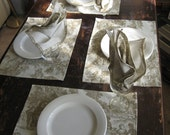 LAURA ASHLEY TOILE PLACEMATS AND NAPKINS