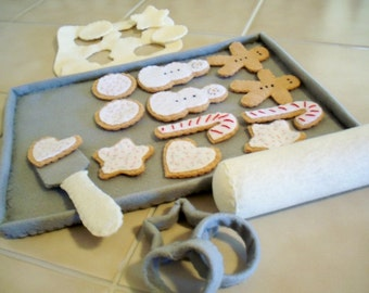Felt Play Food Cookies For Santa Baking Set Made To Order