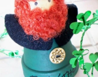 Top 'o' The Morning Lucky Leprechaun Clay Pot
