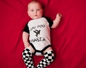 KUNG POO MASTA - Onesie T-Shirt Design for baby Karate Kid Size 24 Months Fun for any Baby Shower
