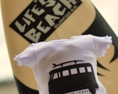 Girl Volkswagon Surf Dress  Born to Surf VW Bus With Surfboard 24 Month Baby Dress White