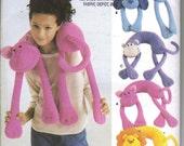 Monkey Neck Pillow Pattern, also dog, cat, lion