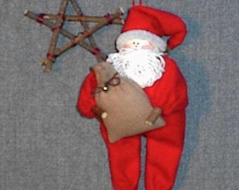 Santa Claus Christmas Ornament Pattern, Janet's Creations Pattern