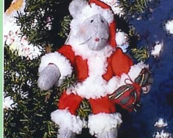 Santa Mouse Christmas Ornament Pattern, Mouse Doll Pattern