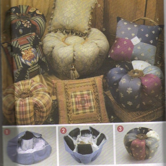 pattern to make ottomans and matching pillows. Black Bedroom Furniture Sets. Home Design Ideas