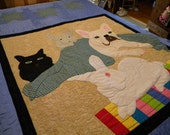 Pet Memorial Quilt, A Glorious Portrait of Your Special Pet(s) in Fabric Using your Favorite Photographs, Multiple sizes