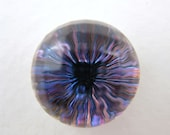 Vintage Glass Cabochon. Rainbow Starburst Faceted Domed, 16mm gcb0438 (1)