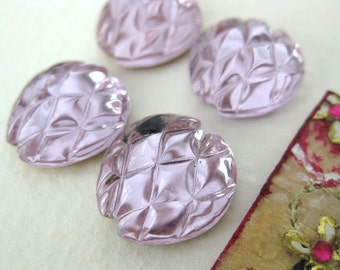 Vintage Flower Cabochon. Alexandrite Glass Foiled 14mm gcb0445 (4)