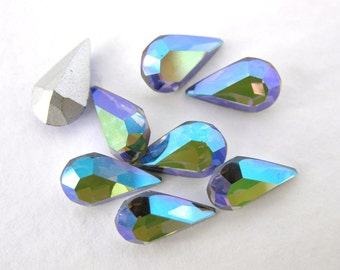 Vintage Rhinestone Swarovski Crystal Starlight Teardrop Jewel 10x6mm swa0141 (8)