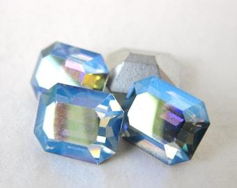 Swarovski Crystal Vintage Rhinestone Light Sapphire AB Octagon Jewel 10x8mm swa0136 (4)