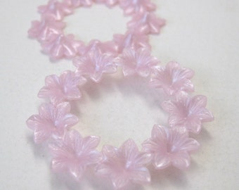 Vintage Flower Cabochon Pink Pearl Wreath Lucite Plastic 43mm pcb0199 (4)