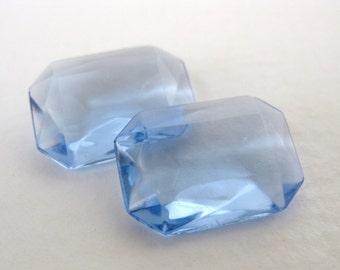 Vintage Rhinestone Glass Jewel Light Sapphire Octagon Transparent 18x13mm rhs0254 (2)
