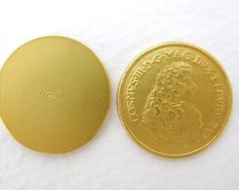 Vintage Reproduction Gold Plated Renaissance Coin Stamping Italy 18mm stp0004 (4)