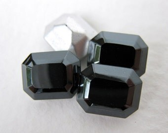 Swarovski Crystal Vintage Rhinestone Jet Hematite Octagon Black Jewel 10x8mm swa0243 (4)